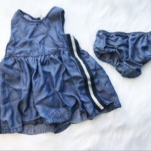 Splendid baby Girls Chambray 2 pc outfit 24 mo